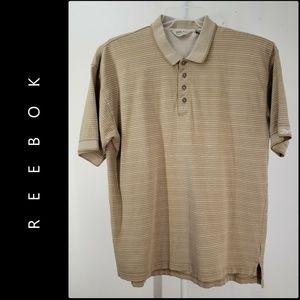 Reebok Men Short Sleeve Pinstripe Polo Shirt XL